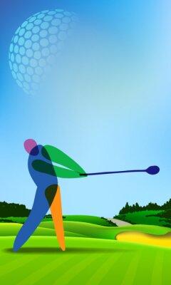 Obraz Golfista na polu golfowym