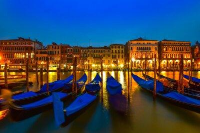 Obraz Gondola na Canal Grande, Wenecja, Włochy