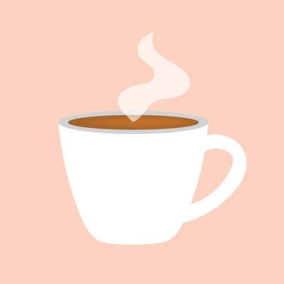 Obraz gorący kubek kawy ikona wektor ilustracja