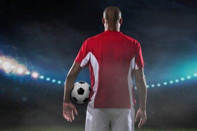 Obraz Gracz z piłką nożną