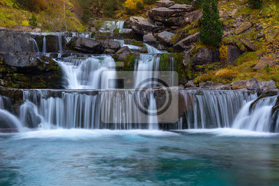 Gradas De Soaso, Falls on Arazas River, Ordesa and Monte Perdido National Park, Huesca, Hiszpania
