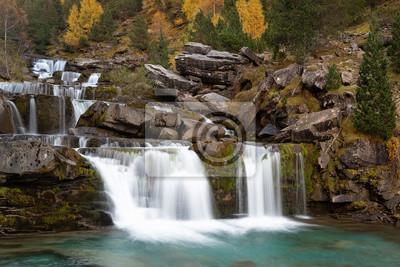 Gradas De Soaso, Falls on Arazas River, Ordesa and Monte Perdido National Park, Huesca, Spain