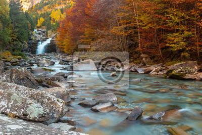 Gradas of Soaso, Falls on Arazas River, Ordesa and Monte Perdido National Park, Huesca, Hiszpania