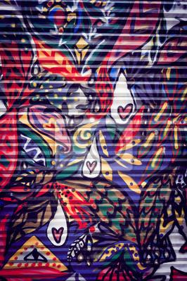Obraz Graffiti coloré sur porte métallique