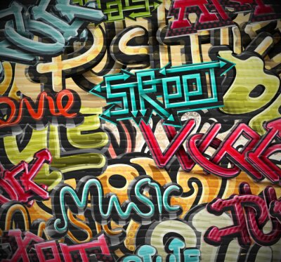 Obraz Graffiti w tle