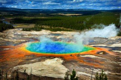 Obraz Grand Prismatic Pool w Parku Narodowym Yellowstone