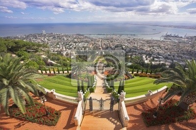 Grandiose uroczystym krajobraz - Bahai święte miejsca, Haifa
