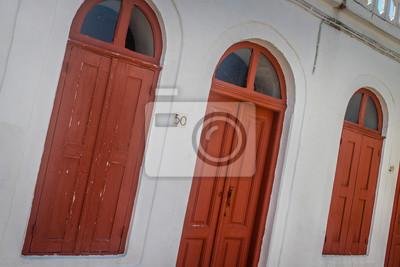 Griechische Rote Fenster