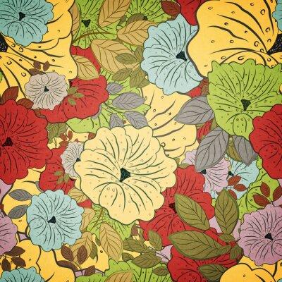 Obraz Grunge Floral Seamless kolorowy wzór