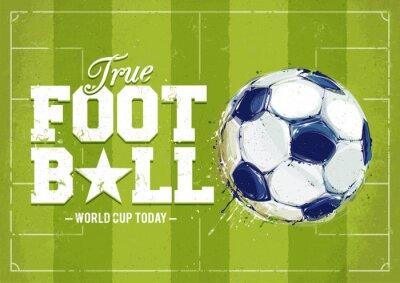 Obraz Grunge Football Poster