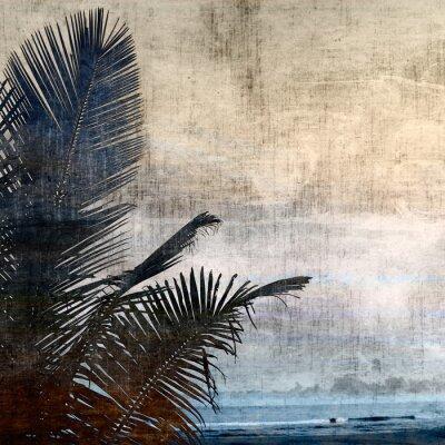 Obraz grunge palm-2