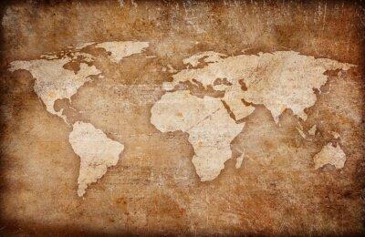 Obraz grunge tle mapy świata