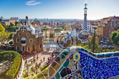 Obraz Guell park, Barcelona, Catalania, Spain. Protected by UNESCO