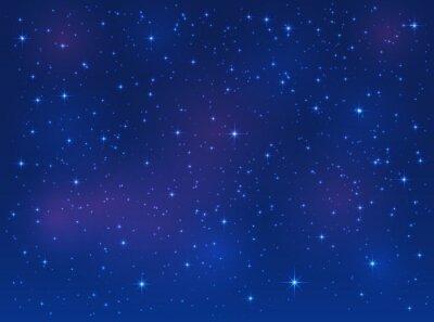 Obraz Gwiazdy na niebieskim tle nieba
