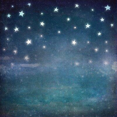 Obraz Gwiazdy w nocy grunge nieba, tło