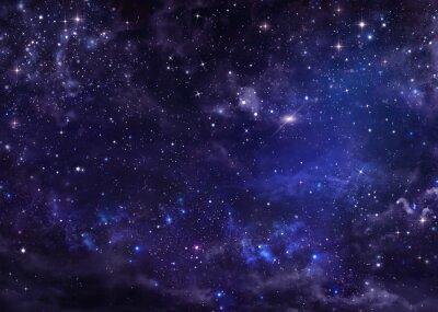 Obraz gwiaździste niebo noc głębokiego kosmosu