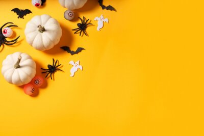 Obraz Halloween scene on orange background
