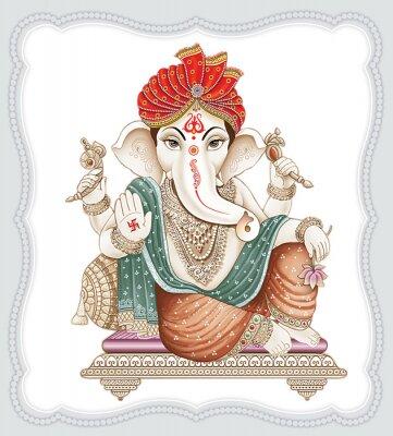 Obraz High Resolution Indian Gods Ganesha Digital Painting