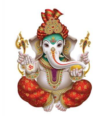 Obraz High-Resolution Indian Gods Lord Ganesha Digital Painting