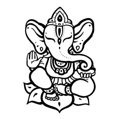 Obraz Hinduistyczny Bóg Ganesha