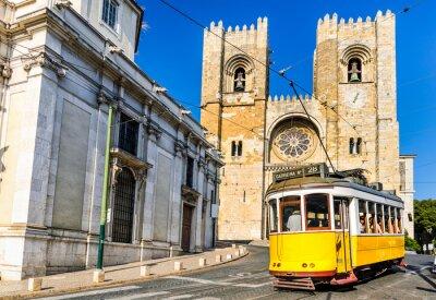 Obraz Historic yellow tram of Lisbon, Portugal