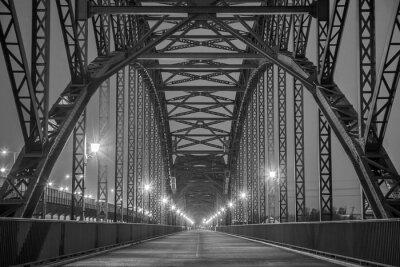 Obraz Historyczne Stahlträgerbrücke über die Elbe w Hamburgu