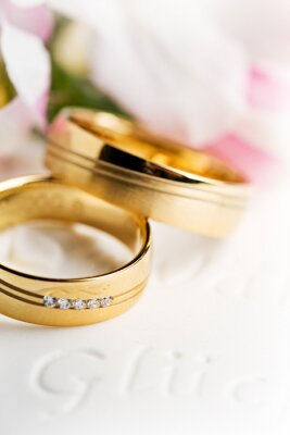 Obraz Hochzeitsringe, Eheringe