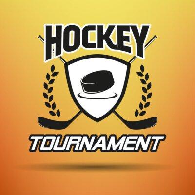 Obraz Hockey Label