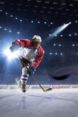 Obraz Hokeista na lodowisku