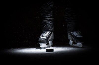 Obraz Hokeista. Nogi tylko przeglądać