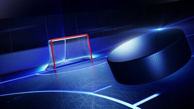 Obraz Hokej na lodowisko i celem