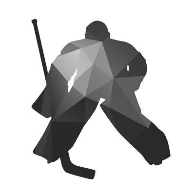 Obraz Hokej na lodzie bramkarz