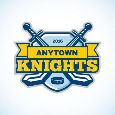 Obraz Hokej na lodzie rycerze logo zespołu.