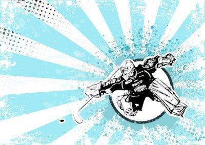 Obraz hokej na lodzie tło plakatu retro