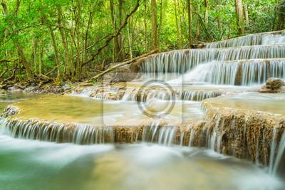 Huai Mae Khamin waterfall in  Kanchanaburi province, Thailand