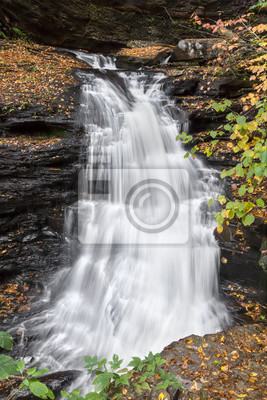 Huron Falls Twists Through Glen Leigh - Ricketts Glen State Park, Pennsylvania