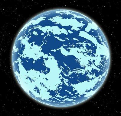 Obraz Ice planety w przestrzeni