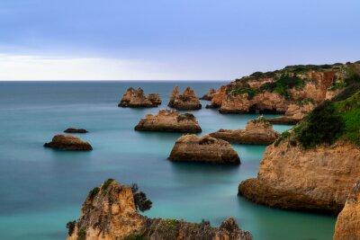 Idyllic view of the beautiful Ponta Joao de Arens in Portimao, Algarve, Portugal