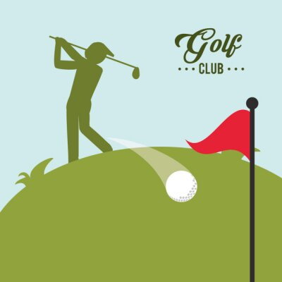 Obraz Ikona Golf projektowania