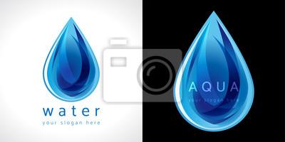 Obraz ikona kropli wody.