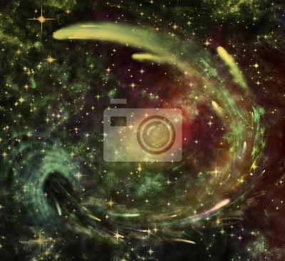 Obraz Ilustracja abstrakcyjnej przestrzeni