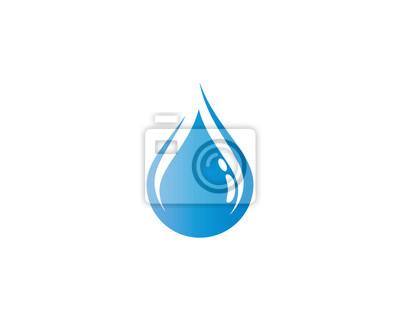 Obraz Ilustracja kropla wody