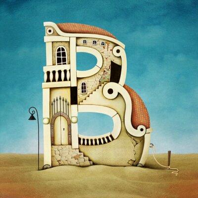 Obraz Ilustracja listu w formie budynków