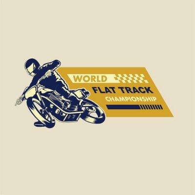 Obraz Ilustracja płaski tor wyścigowy