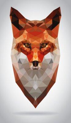 Obraz Ilustracja wektora izolowane szef Fox nowoczesny geometryczny