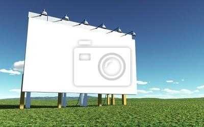 Ilustracja wielkiej ścianie białym reklamowej