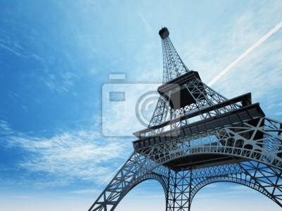 Ilustracja z wieży Eiffla w Paryżu
