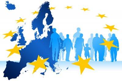 Obraz Imigranci w Europie