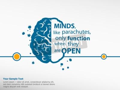 Obraz Inspirational motywacyjny cytat na tle mózgu