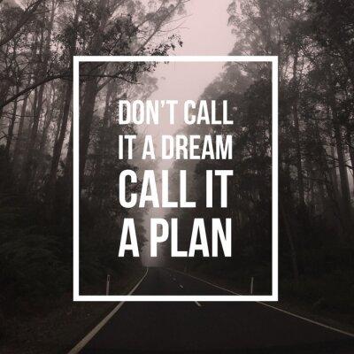 Obraz Inspirujący cytat motywacyjny
